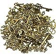 125 pièces antique bronze vintage squelette clé charmes bricolage collier pendentif pour la faits à la main de mariage faveur