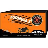 Formula X Gel Based High Speed Puncture Sealant Motorcycle Pro for 2 Tyres (KTM 200, Yamaha FZ, and more)