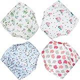 Paquetes de 4 pantalones de entrenamiento para ir al baño para niños Ropa interior de entrenamiento absorbente para bebés Pan