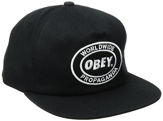 368ef5ac68e17 OBEY Men s Oval Patch Snapback Hat