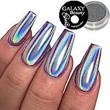 Galaxy Beauté holographique Unicorn Rainbow de 1g à ongles Poudre Chrome Argent Miroir Effet Laser
