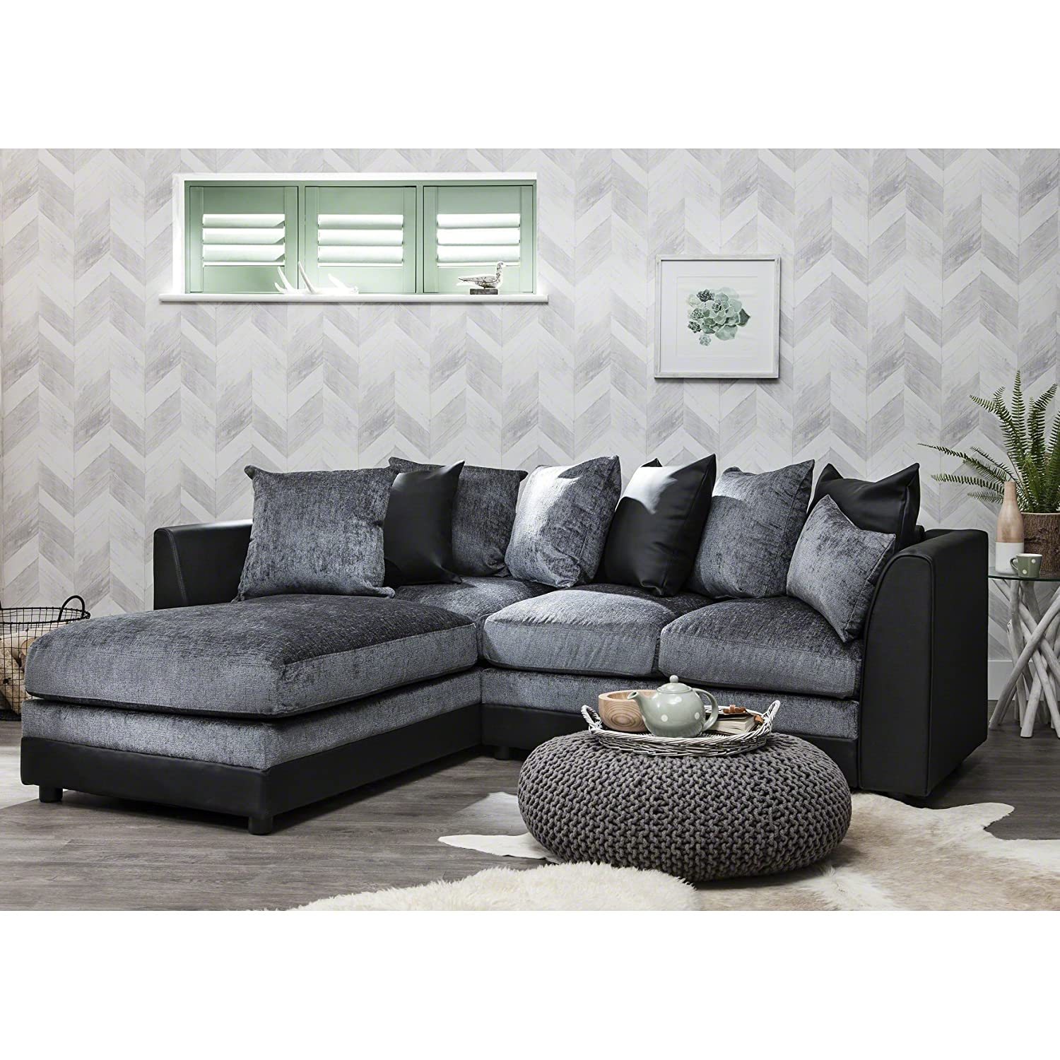 Corner Group Sofa Set Left and Right LEFT BEIGE Amazon