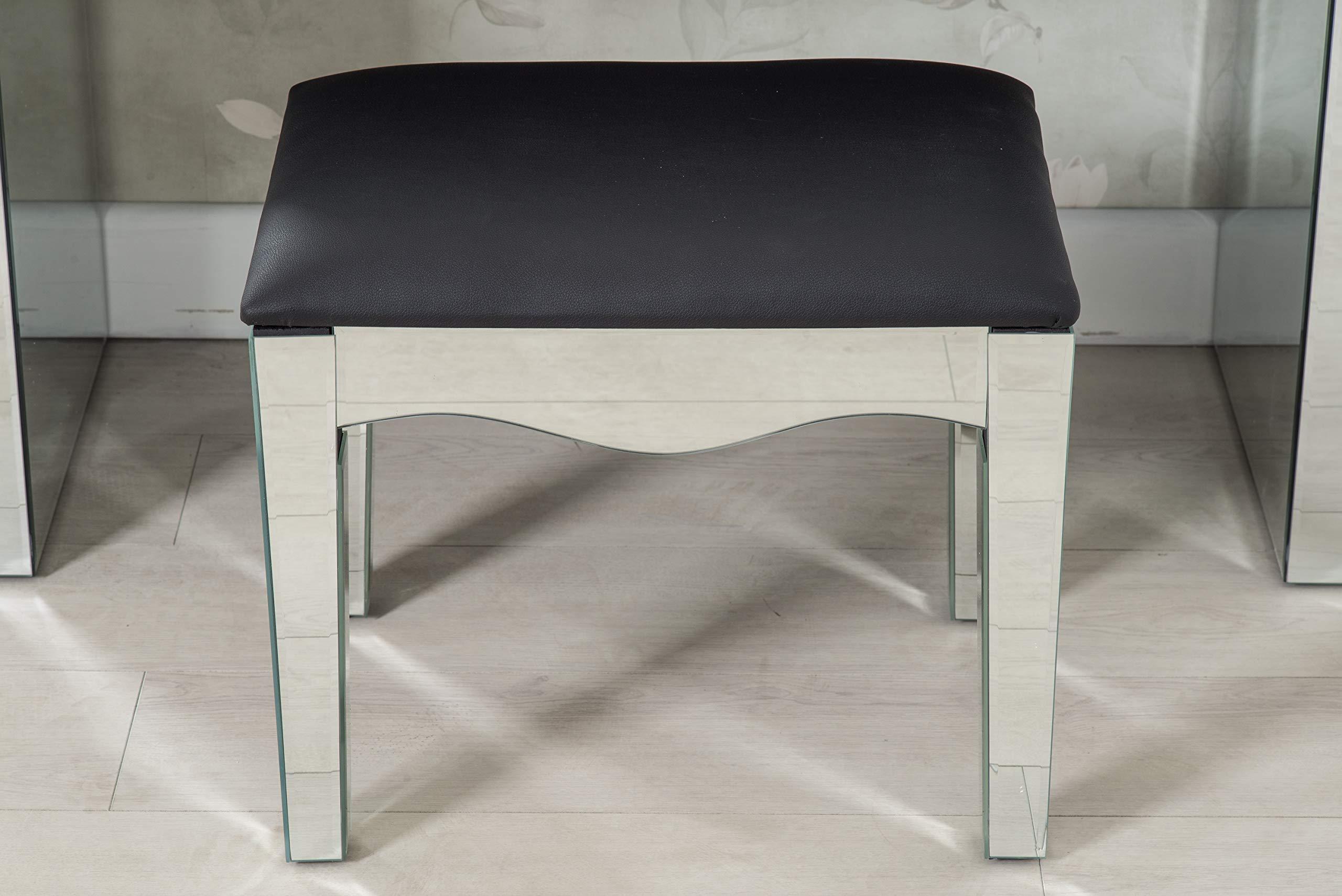 Furnituremaxi tavolino da toeletta in vetro con specchio e