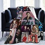 Harry Styles Manta de Manta suave y cálida con estampado digital Manta de franela Regalo de cumpleaños Presente 130x100cm