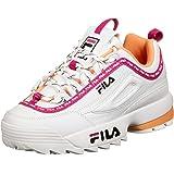 FILA Disruptor Low Wmn - Sneaker basse da donna, scarpe da ginnastica, Rosa (White Beetroot viola)