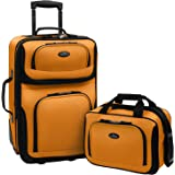 U.S. Traveler Rio Carry-on Lightweight Expandable Rolling Luggage Suitcase Set