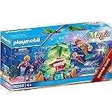 PLAYMOBIL Magic 70368 Koraallounge, zeemeermin, met lichteffect en verzamelparels, vanaf 4 jaar