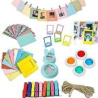 Shopizone Photo Accessories Bundle (Filter/Selfie Lens/Photo Frame/Photo Stickers/Clips) for Fujifilm Instax Mini 9/8 / 8+ (Accessories Bundle)