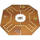 لعبة جاكارو لاربع لاعبين - لوح بني غامق كبير