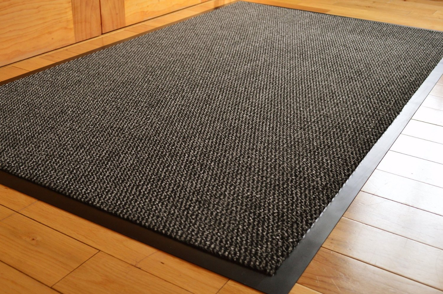 BARRIER MAT LARGE GREY /BLACK DOOR MAT RUBBER BACKED MEDIUM RUNNER ...