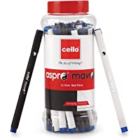 Cello Aspro Mavro Ball Pen (25 Pens Jar - Blue) | For office and school use | Lightweight body ideal for longer writing…
