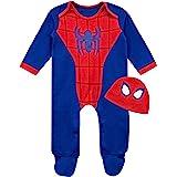 Marvel Conjunto Pijama Entera con Gorro para Niños Bebés El Hombre Araña