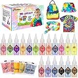 Gifort Tie Dye Kit, Textiles de Tela 18 piezas Colores Vibrantes Pinturas Ropa Tinte Graffiti para Proyectos de Bricolaje y A