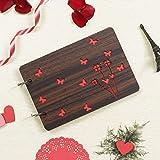 Webelkart Wooden DIY Scrapbook Memory Book Photo Album (26 x 16 x 4 cm , 30 Sheets , 0.5 kg)