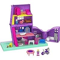 Polly Pocket Pollyville La Maison de Polly, 2 mini-figurines Polly et Paxton, accessoires et autocollants, jouet enfant…