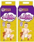 Freshkins Yellow Baby Diaper Pants XXL - (Pack of 2, 48 Unit)