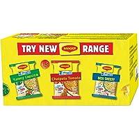 MAGGI 2-Minute Instant Noodles Box - Desi Cheesy Masala (4 Pack x 60.5g), Chatpata Tomato Masala (4 Pack x 60.5g) Yummy…