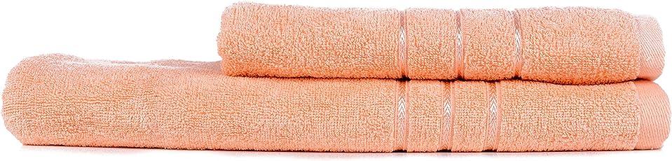 Towel Town Set of 2 Ecospun Bath Towels Peach