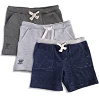 Minicult Cotton Unisex Shorts with Drawstring (Pack of 3)(Multicolor)