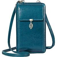 ENONEO Handytasche zum Umhängen RFID Schutz Handy Geldbeutel Umhängetasche Damen Klein Leder mit 12 Kartenfächer Handy…