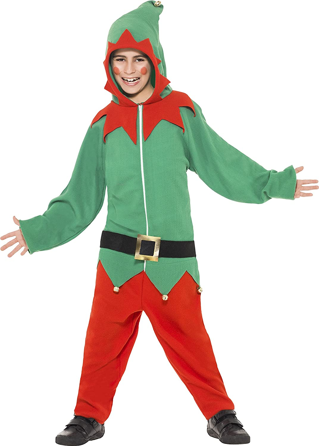 smiffy u0027s elf costume all in one with hood small smiffys amazon