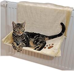 Heizkörperliege, Heizkörpermulde, Katzenliege, Katzenhängematte in beige und braun