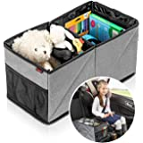 reer TravelKid Box Achterbank voor orde op de achterbank, vuilafstotend, anti-slip bodem, opvouwbaar, grijs