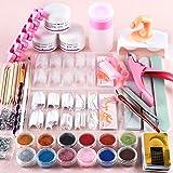 Saint-Acior Acryl nagelset, nagelkunst, professionele nageldesign, acrylpoeder, strass-steentjes, decoratiekit, kerstcadeaus
