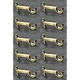 WSK Best Range Collection Brass Antique Curtain Bracket Support 10 Pieces Door and Window Fitting Hardware S117-005