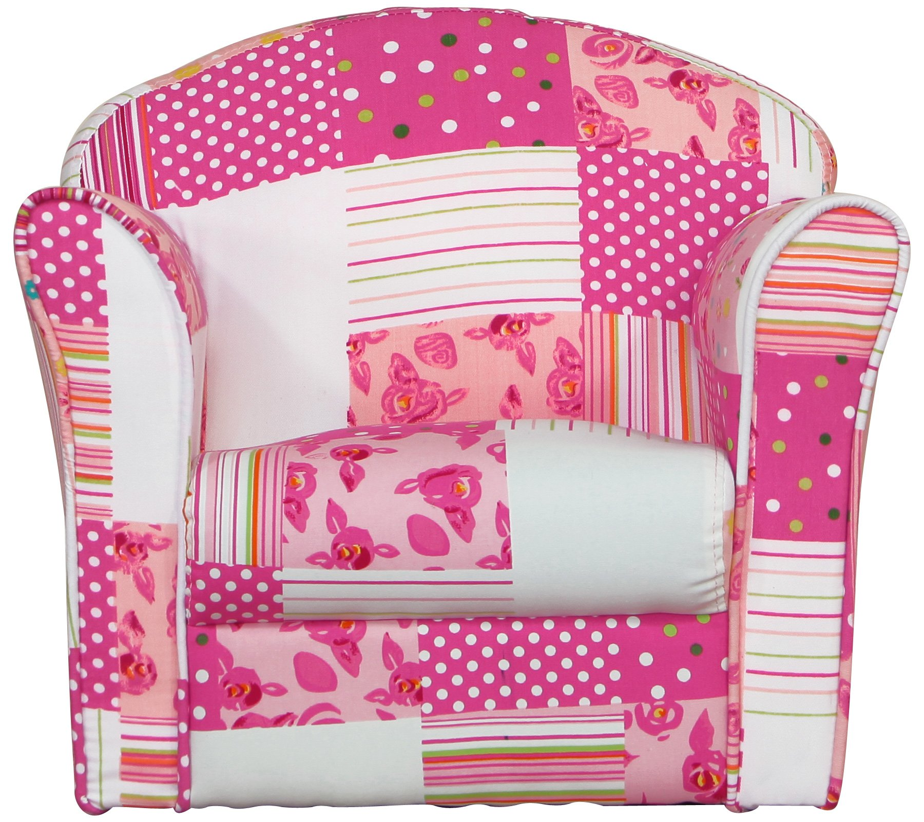 Kidsaw Mini Armchair Patchwork Kidsaw Fully safety tested Strong double stitch Piping finish 3