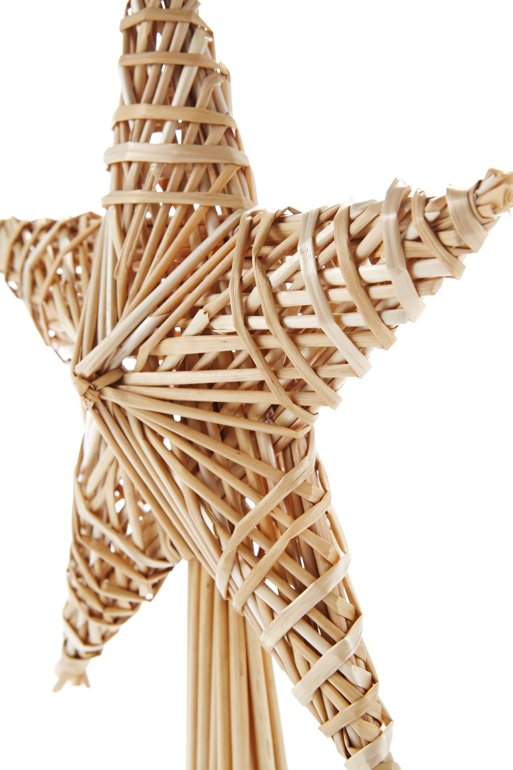 HEITMANN-DECO-Stroh-Baumspitze-25-cm-Natur-Christbaumspitze-Stern-aus-Stroh-Christbaumschmuck-aus-natrlichem-Material