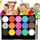 Skymore Palette de Maquillage de Fête, Maquillage Pour Enfant, Fard Maquillage,15 Couleurs Visage Kit de Maquillag, Bodypaint