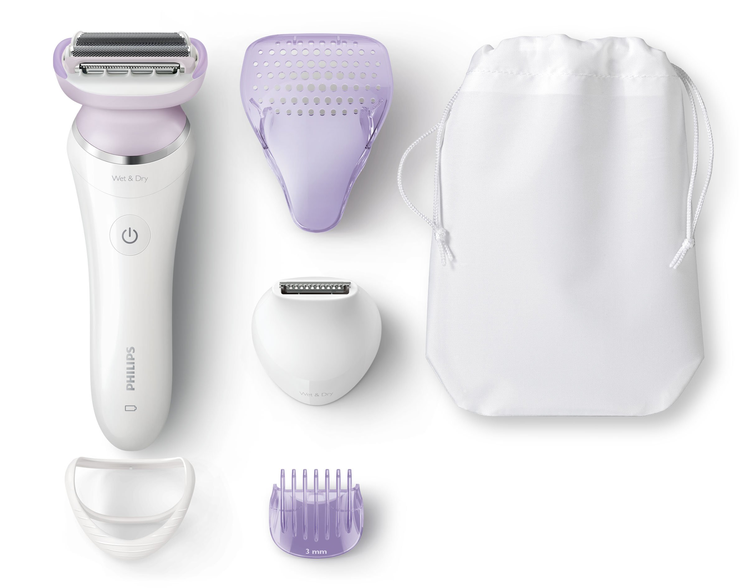 Philips SatinShave Prestige Wet and Dry electric shaver - women's shavers (Li-ion, White)