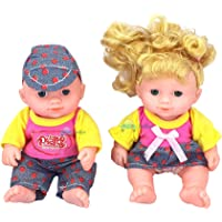 FunBlast Boy & Girl Dolls Set for Kids, Baby Toy Realistic Silicone Baby Dolls for Kids Girls – Height -18 cm…