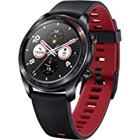 Honor Watch Magic (Lava Black) 9.8mm Thickness & Lightweight Smart Watch, Personal Fitness Mentor, Watch Faces Store, 7 Days Battery Life, GPS,11 Workout Modes, Scientific Sleep & Heart Rate Monitor