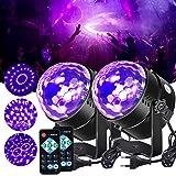 Litake UV blacklight discobal, LED podiumverlichting 6W 7 verlichtingsmodi afstandsbediening DJ projector disco party lamp vo