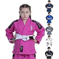 Vector Kimono Gi de jiu-jitsu brésilien JJB pour enfants, avec ceinture blanche gratuite Tissu 100% coton tissage perlé prérétréci léger