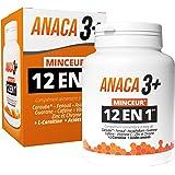 Anaca3+ – Minceur 12 En 1 – Complément Alimentaire 12 actions en lien avec la minceur(3) – Programme 30 jours – 120 gélules