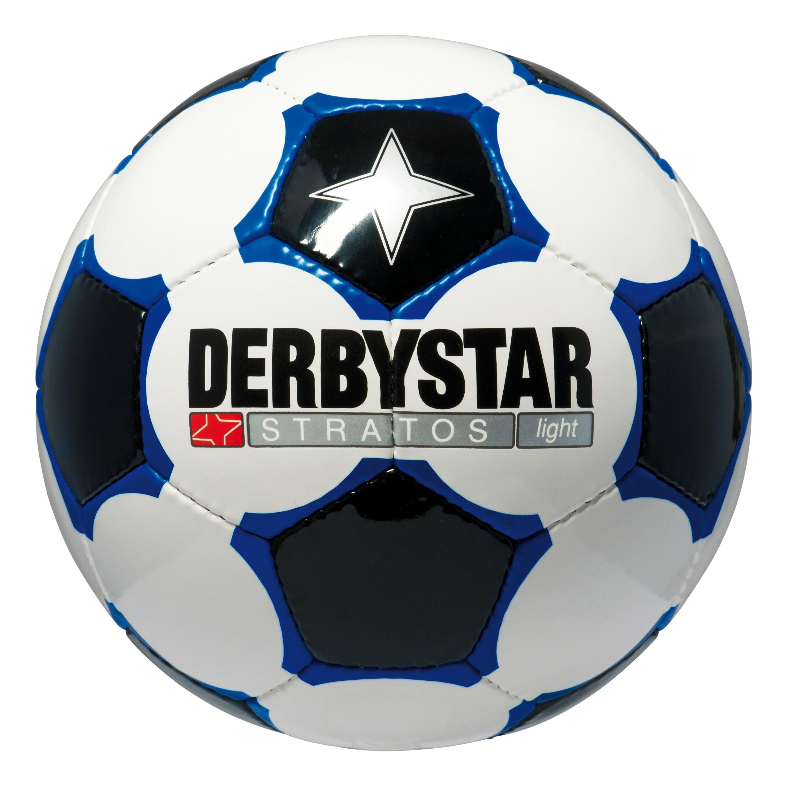 DERBYSTAR - SCIROCCO LIGHT, Pallone da calcio, colore: Bianco/Blu/Nero
