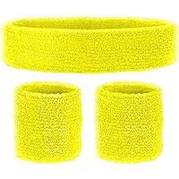 Widmann 05835 - Schweißbänder, 3-teiliges Set, Stirnband und 2 Armbänder, Sport, Accessoires, 80er Jahre, Trainingsanzug…