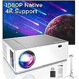 Bomaker Proiettore Supporta 4K 7200 Lm, Nativo Full HD 1080P, Correzione trapezoidale 6D e ± 50°, Bassa Latenza, 300''Display