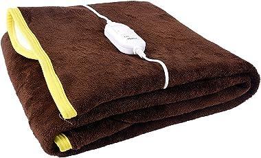 Genius Homes Premium Shock Proof and Heating Electric Single Bed Warmer (Brown)