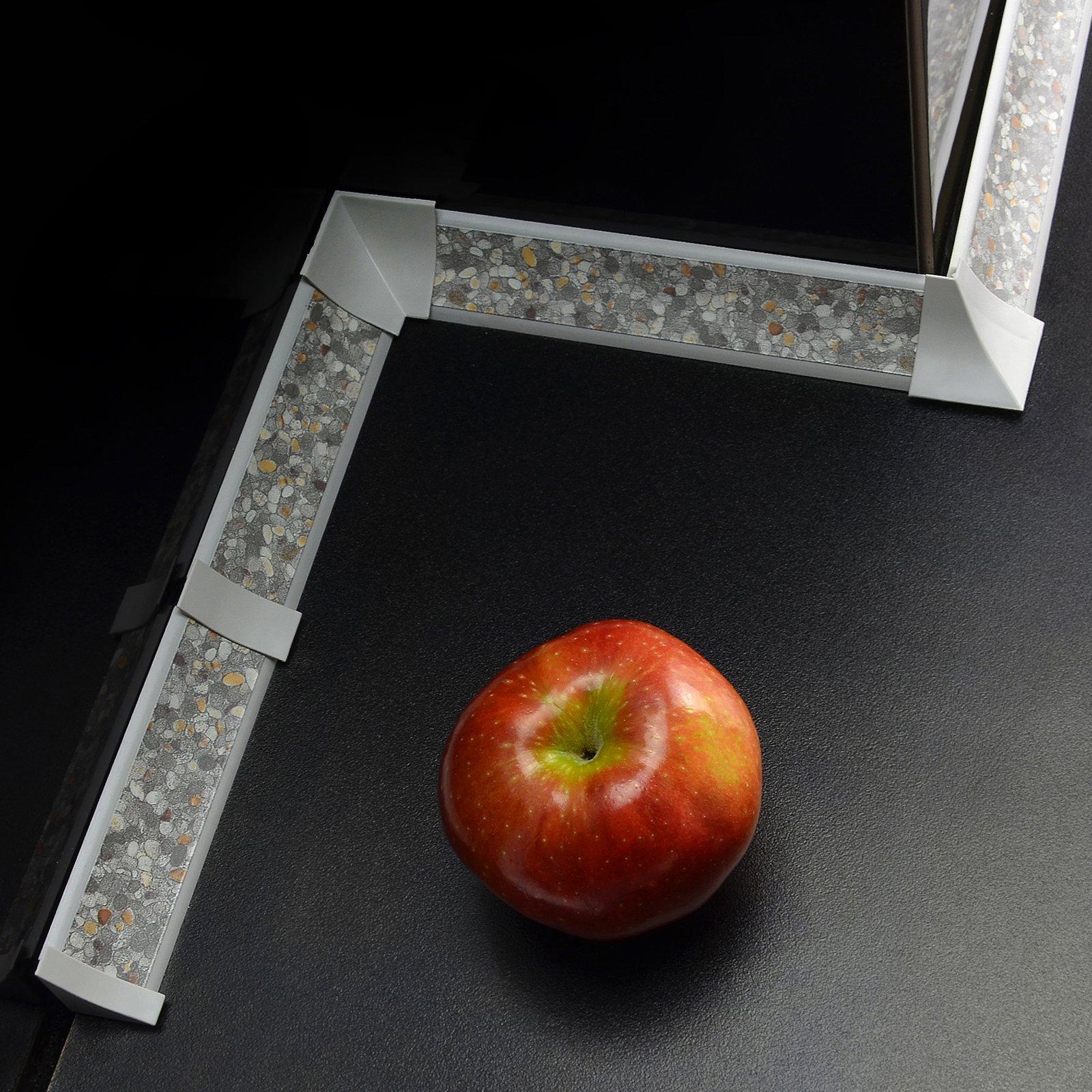 IMPOSTATO 6m (2x3m) 23 mm PVC cucina piano di lavoro bordatura e accessori tagliare viti gratuiti co