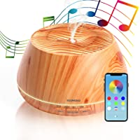 Diffuseur Huiles Essentielles 400ML, Enceinte Bluetooth, Lumière de 30 Couleurs, YOUNGDO Diffuseur d'Huiles Essentielles…