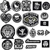20PCS Toppe per Vestiti, (Skull/Punk) Toppe da Cucire, Toppe Termoadesive, Patch da Ricamo Patch di Ferro Applicazioni per Ve