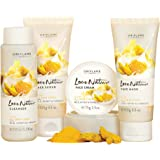Oriflame Love Nature Facial Kit- Glow With Turmeric, Milk & Honey For All Skin Types & All Ages 4 pcs. 35524