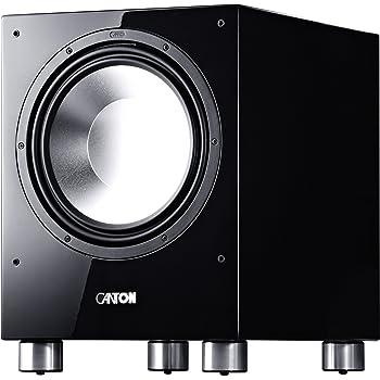 Canton Sub 1200 R Aktives Subwoofersystem (500/750 Watt, 1-er Stück) hochglanz-schwarz
