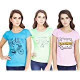 MODISH Women's T-Shirt (Pack of 3)