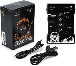 Asmuse Gitarrenverstärker Mini Gitarre AMP E Gitarren Kopfhörer Verstärker fur Stille Übung und Probe mit DI und Distortion Effect Stecker fur Mixer MP3 CD-S2