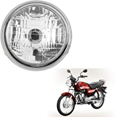 Autofy Round Headlamp/Headlight For Hero Honda CD Dawn (Silver)
